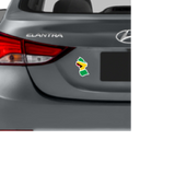 Guyana map and flag Magnetic Decal rear vehicle view