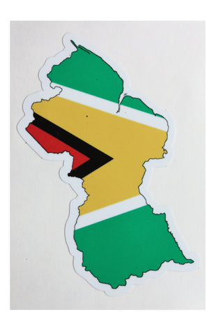 Guyana map and flag adhesive Decal