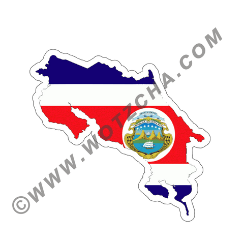 Costa Rica MAPag adhesive backed Decal