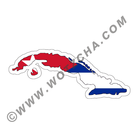 Cuba MAPag adhesive backed Decal