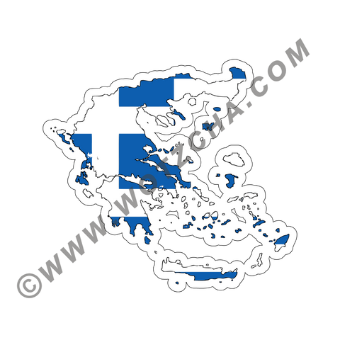 Greece MAPag adhesive backed Decal
