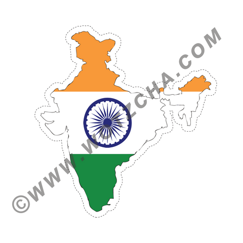 India MAPag adhesive backed Decal
