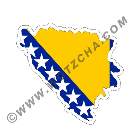 Bosnia&Herzegovina MAPag Magnetic Decal