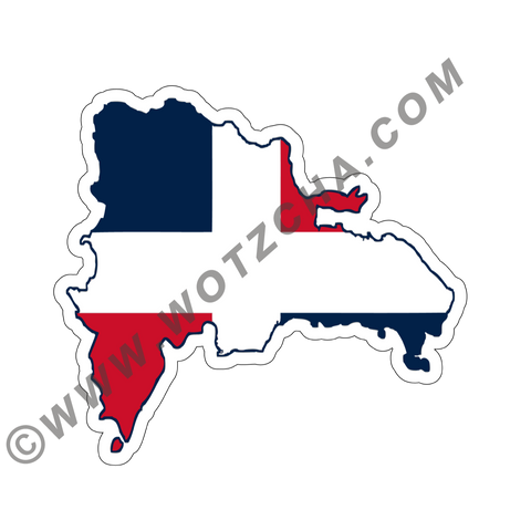 Dominica Republic MAPag Magnetic Decal