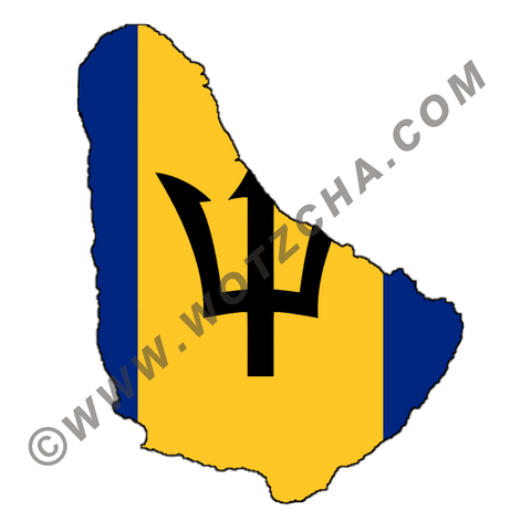 Barbados MAPag static cling window Decal