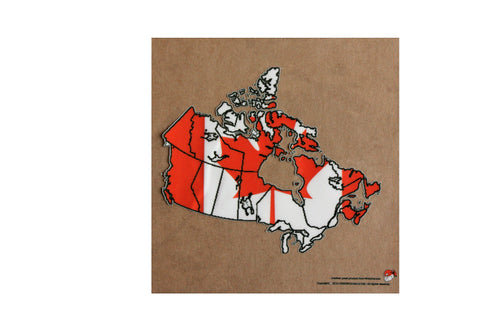 Canada map and flag static cling Decal