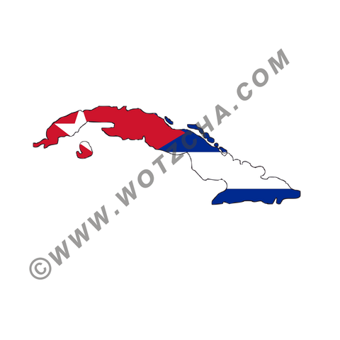 Cuba MAPag static cling window Decal