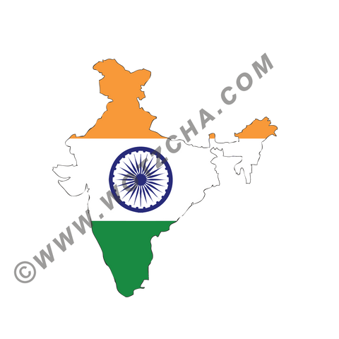 India MAPag static cling window Decal