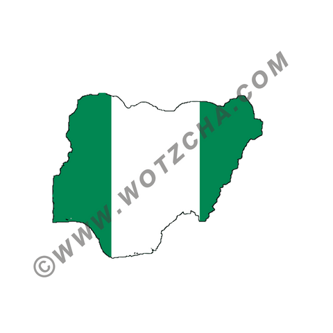 Nigeria MAPag static cling window Decal