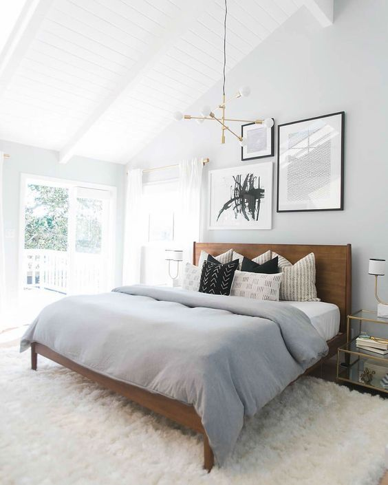 Get The Look: A Spacious Neutral Bedroom With a Touch of Mid-Century Style
