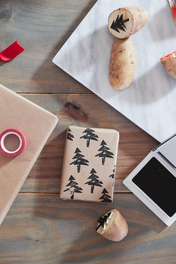 Christmas Present Wrapping Paper DIY