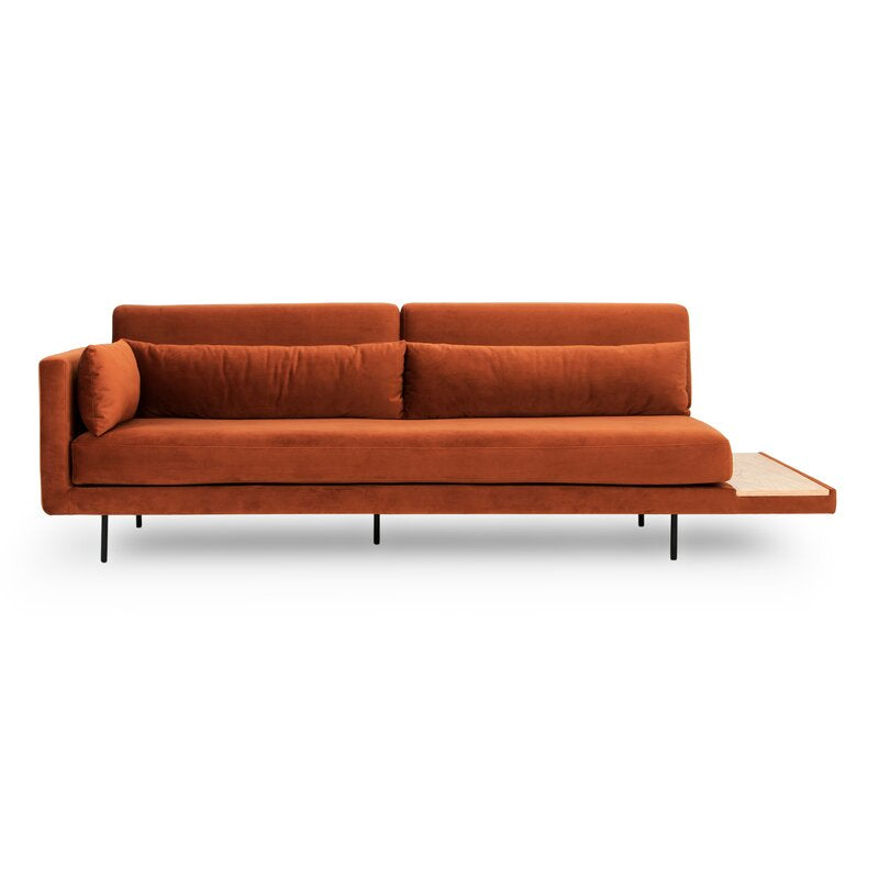 Burnt Orange Mid Century Sofa