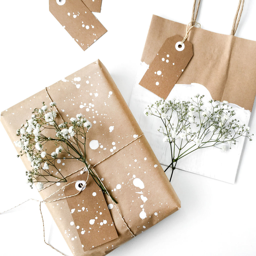 Brown Craft Paper Gift Wrapping