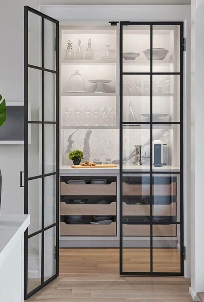 Clear Pantry Door