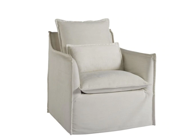 Coastal Living Siesta Key Slipcovered Swivel Chair