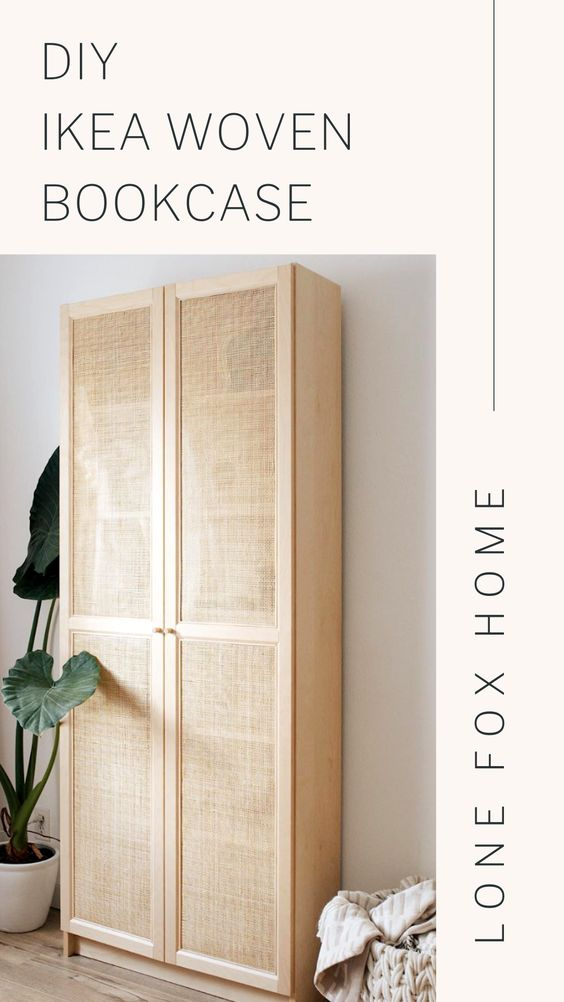 DIY Cane Book Case