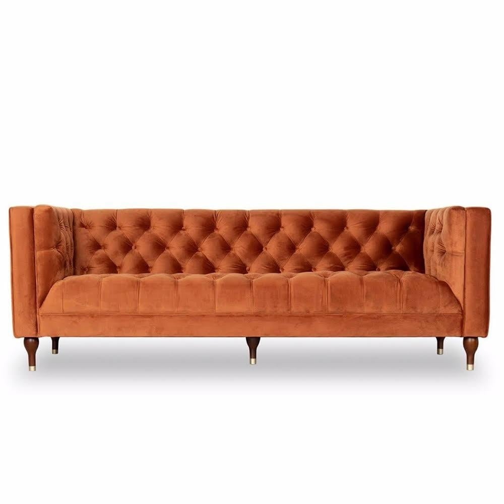 Burnt Orange Sofa