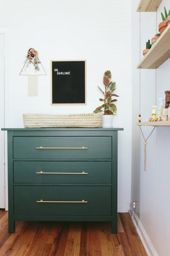 Green Dresser in Nursery