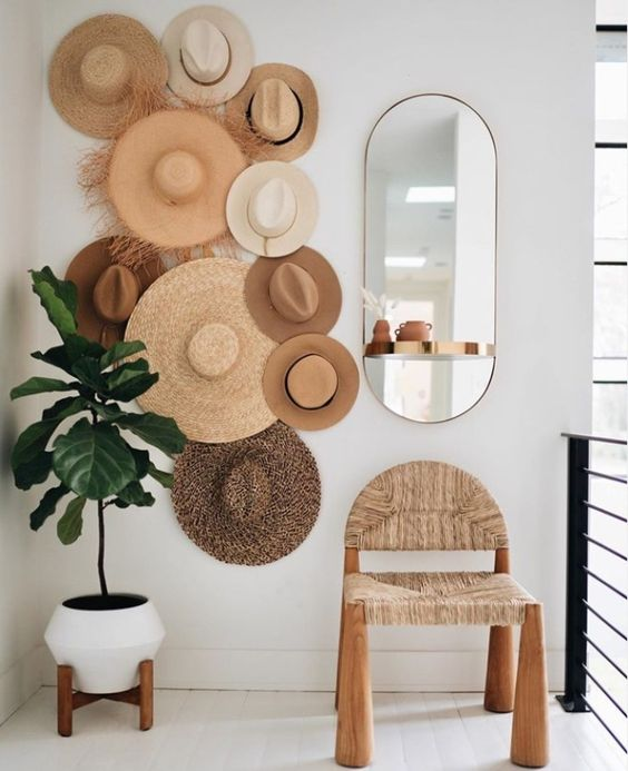 Safari Hats on Wall