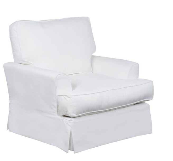 Slipcovered Chair, White