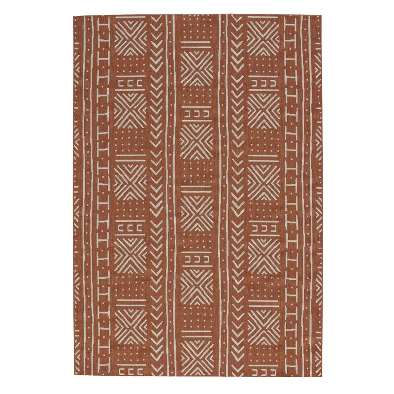 Mud cloth pattern burnt orange run