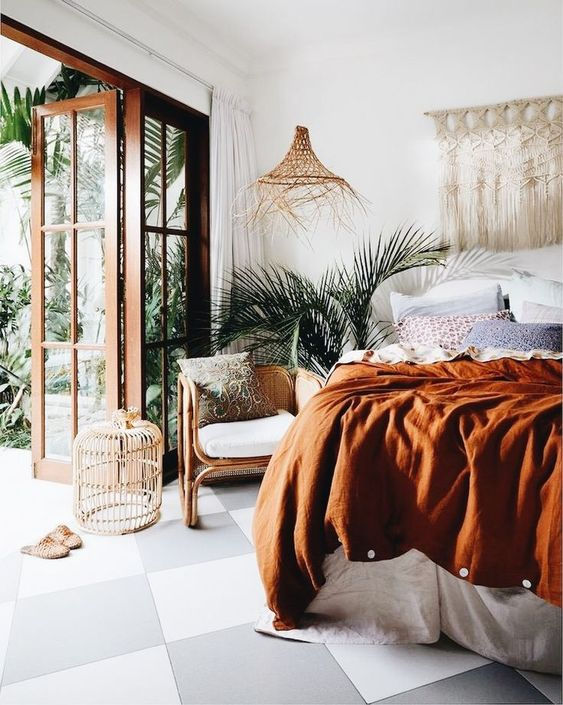 Burnt Orange Bedding