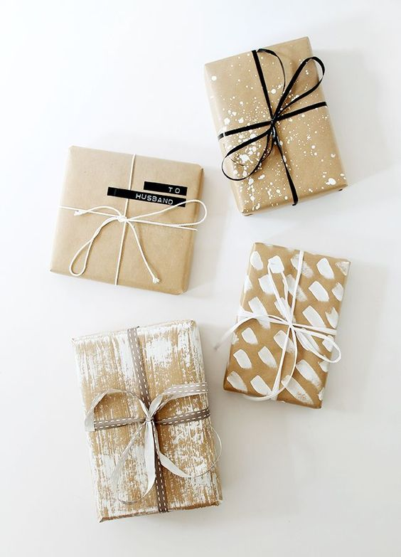 Craft Paper Gift Wrapping Ideas