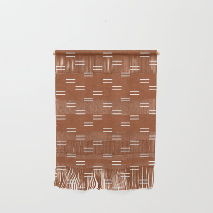 Burnt Orange Hanging Wall art with Fringe