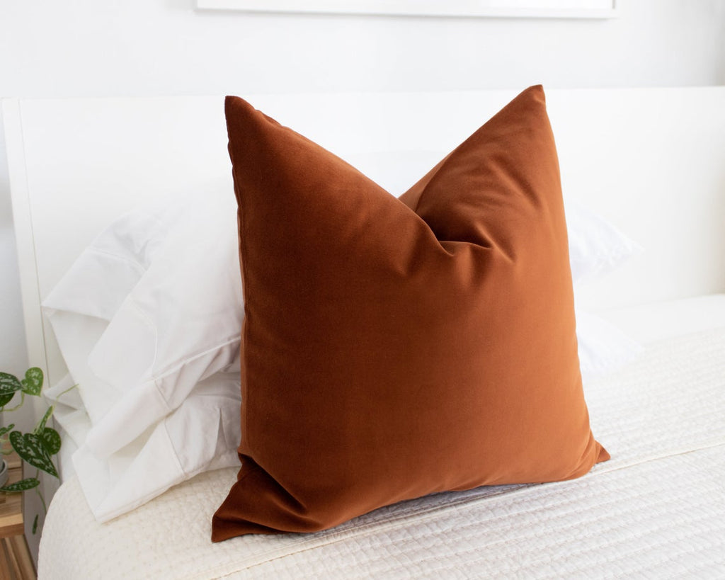 Rust Velvet throw pillow