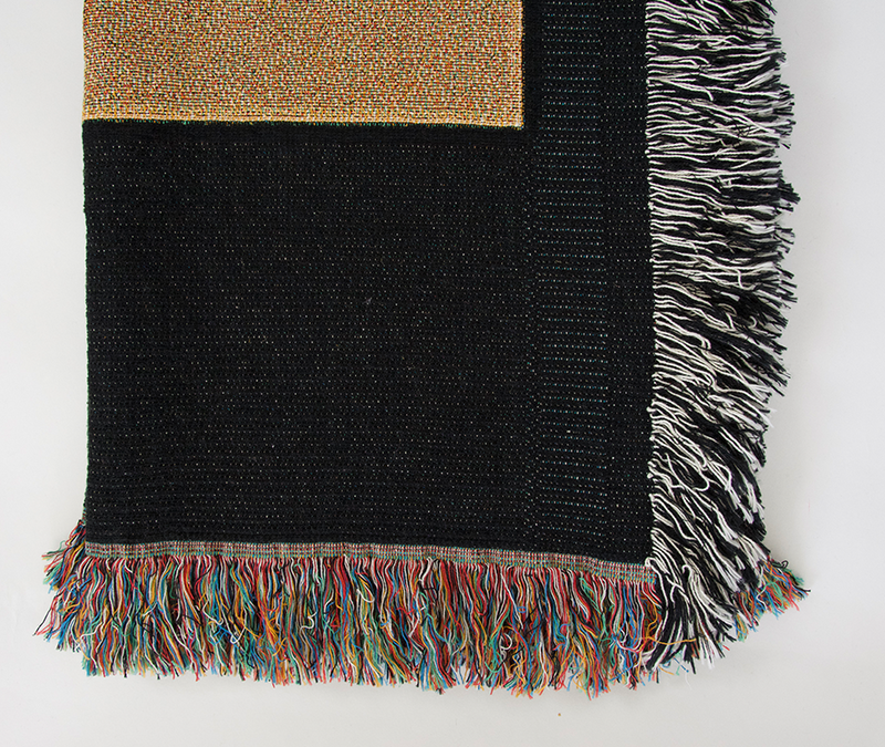 Abstract Black & Tan Throw Blanket
