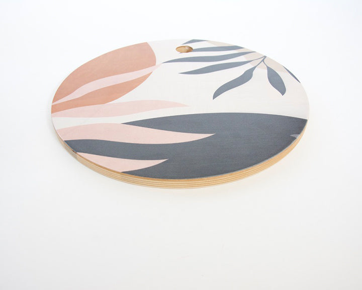 Abstract Neutral Plant Cutting Board