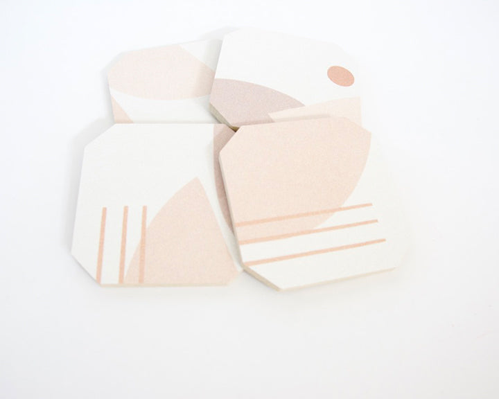 Abstract Pastels Coaster Set