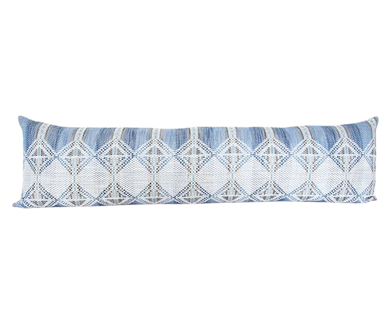 Adoette Indigo Extra Long Lumbar Pillow - 14x50