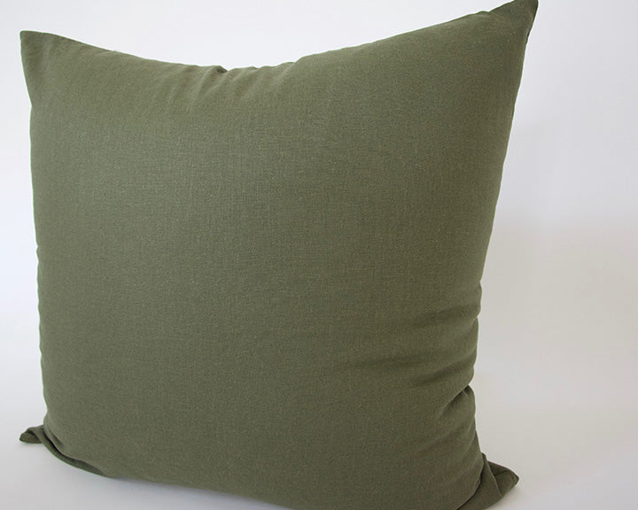 Army Green Accent Pillow - 22x22