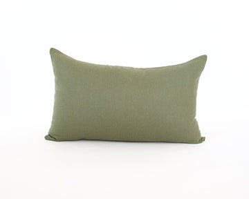 Army Green Lumbar Pillow - 14x22