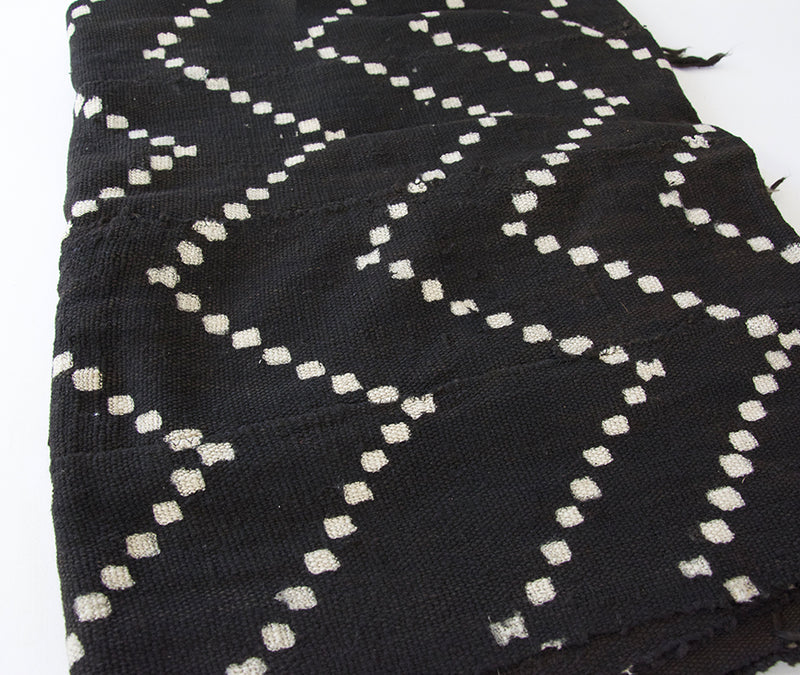 Authentic Black African Mud Cloth Blanket #1
