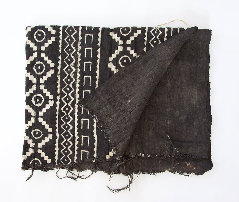 Authentic Black African Mud Cloth Blanket #3