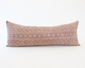Batik Extra Long Lumbar Pillow - Blush - 14x36