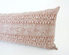 Batik Extra Long Lumbar Pillow - Blush - 14x36 - #2