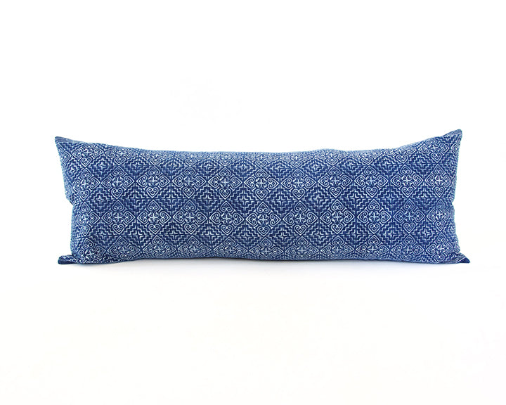 Batik Extra Long Lumbar Pillow 14x36 - #12