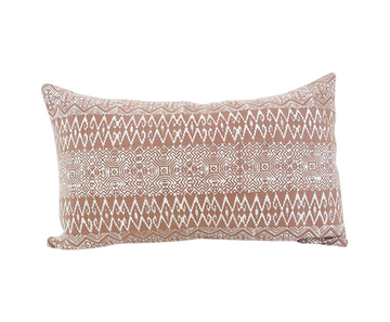 Batik Lumbar Pillow - Blush - 14x22 #1