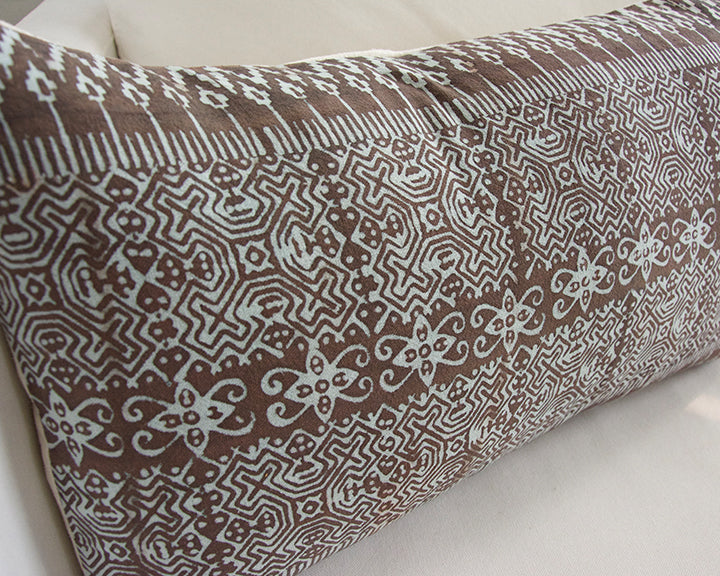 Batik Lumbar Pillow - Blush - 14x22 #2