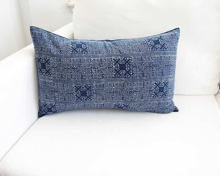 Batik Lumbar Pillow #5 - 14x22