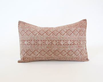 Batik Lumbar Pillow - Blush - 14x22