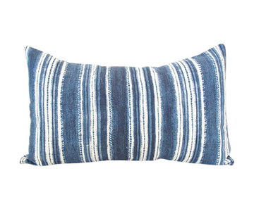 Beach House Blues Lumbar Pillow - 14x22