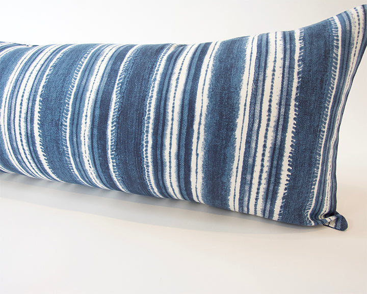 Beach House Blues Extra Long Lumbar Pillow - 14x36