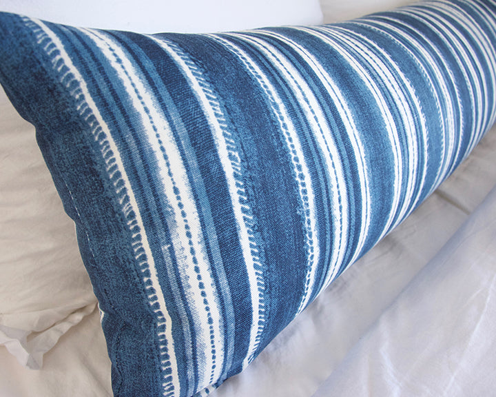 Beach House Blues Extra Long Lumbar Pillow - 14x50