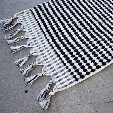 Black & White Turkish Hand Towel