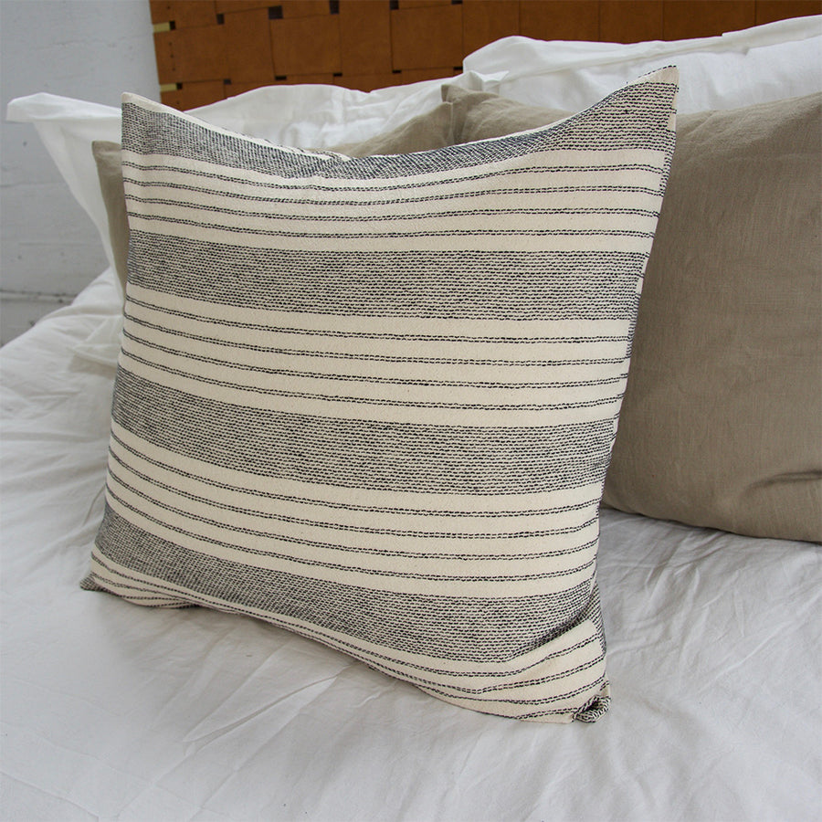 Off-White Stripe Accent Pillow - 24x24