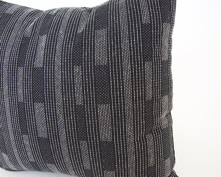 Black Dashed Accent Pillow - 20x20